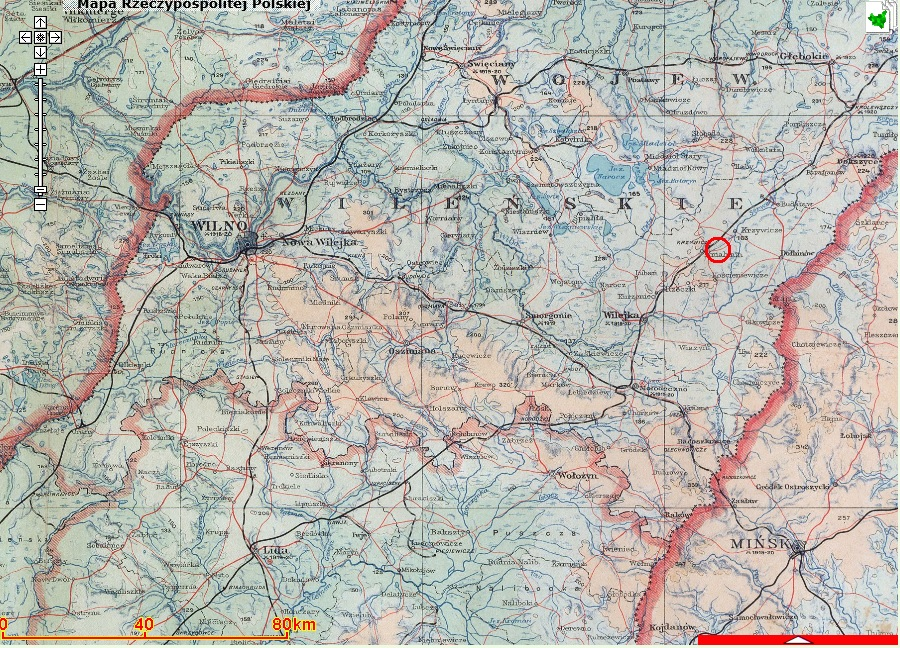 Lotki Map pre 1939 relative to WIlno and Minsk.jpg