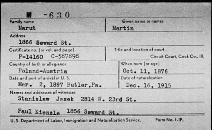Marut Martin Frank US Naturalization Index Cook County IL Circuit Court.jpg