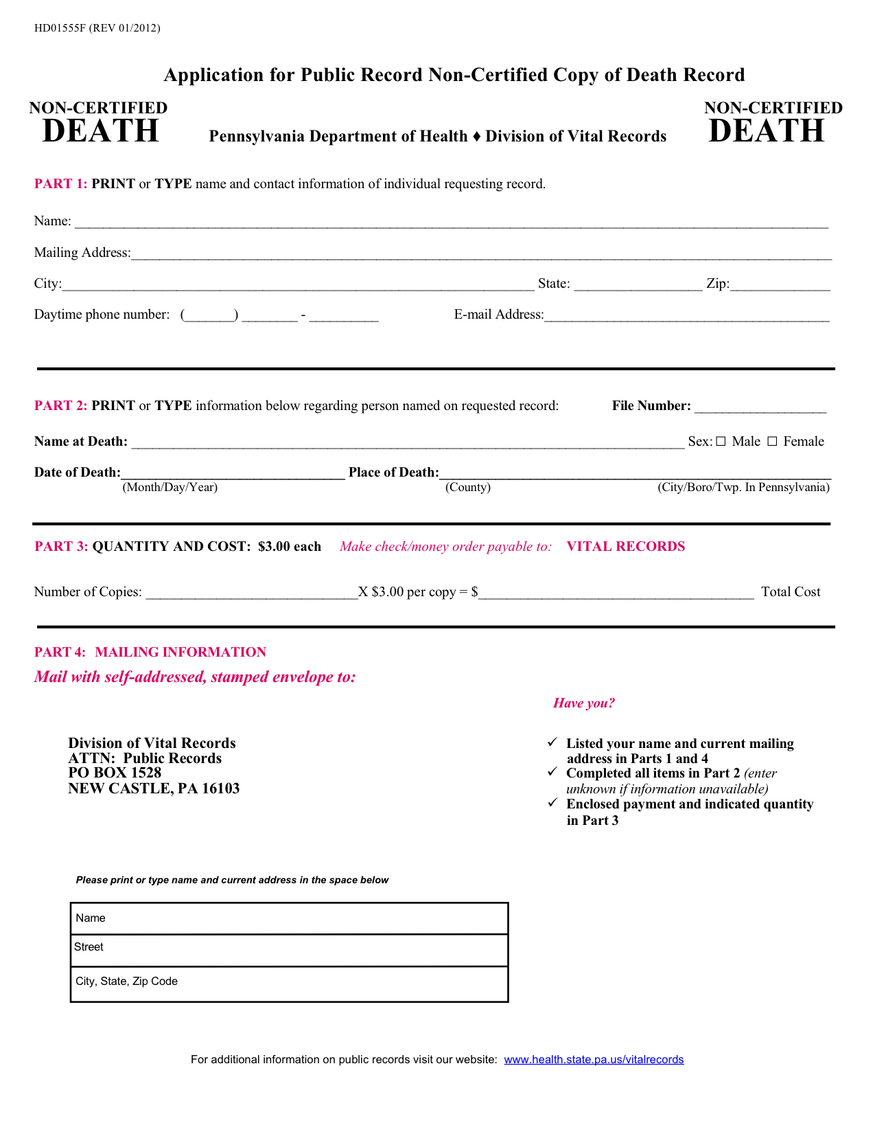 Forum polishorigins view topic pennsylvania death and birth pa form request for death certificateg aiddatafo Choice Image