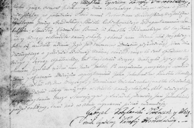 1811 birth record of Jakub bromirski.png