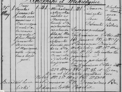 Carl and Michilina Marriage Cert.JPG